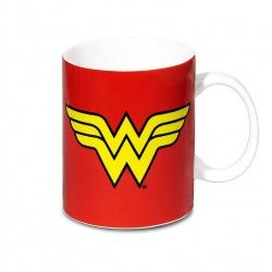 taza wonder woman logo